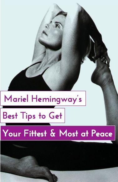 // Mariel Hemingway's simple health lessons