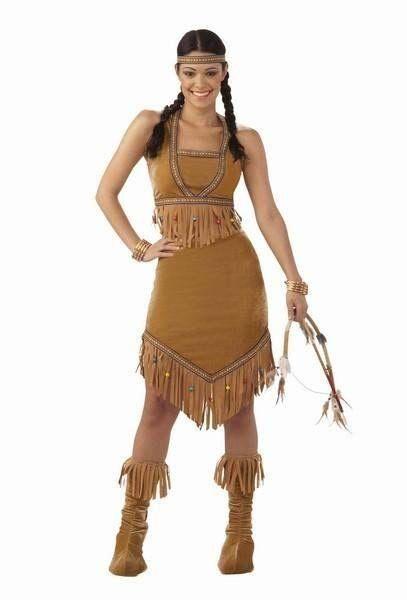 ELSA!!!!   Adult Ladies Native American Princess Deluxe Indian Fancy Dress Costume