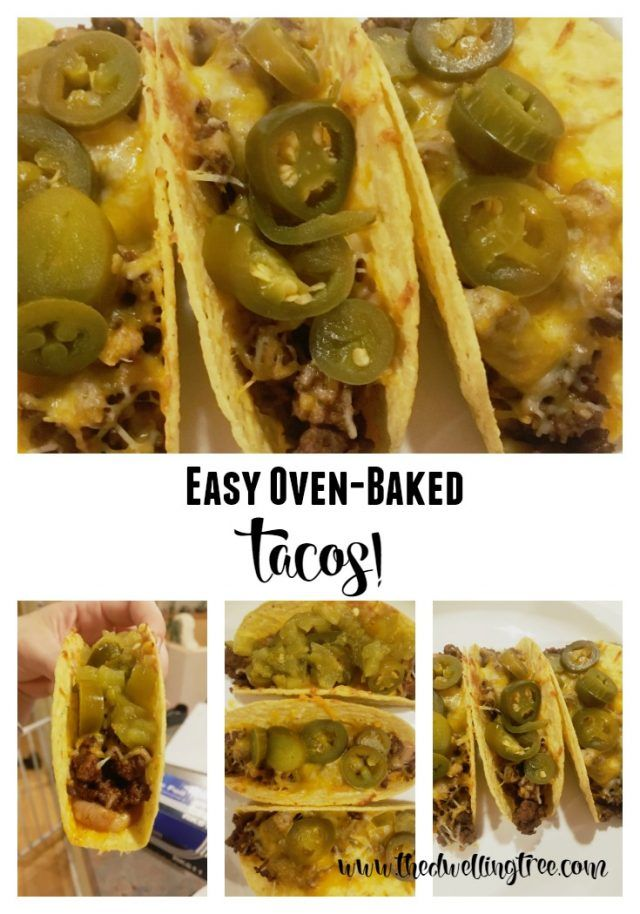Super Quick and Easy Oven Baked Tacos! 20 minutes, serves 10! Beef ...