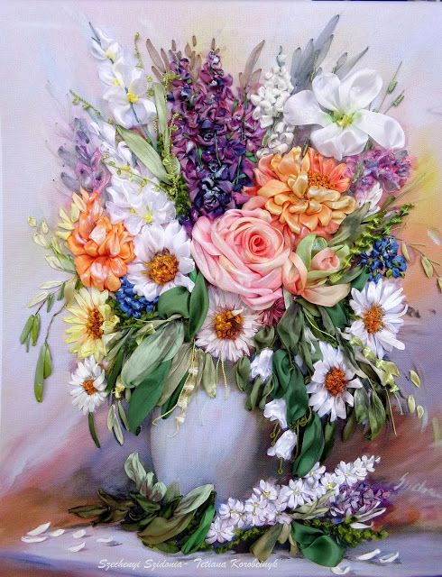 Il mio mondo meraviglioso di nastro: I fiori da Szechenyi Szidonia, la mia pittrice pre ...