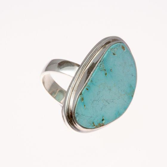 Ezüst gyűrű türkiz kővel /75128/