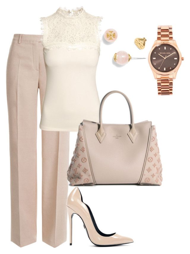 linen and lace by shoesclothesbagsaddict on Polyvore featuring H&M, Emilio Pucci, Louis Vuitton, Michael Kors and Tory Burch