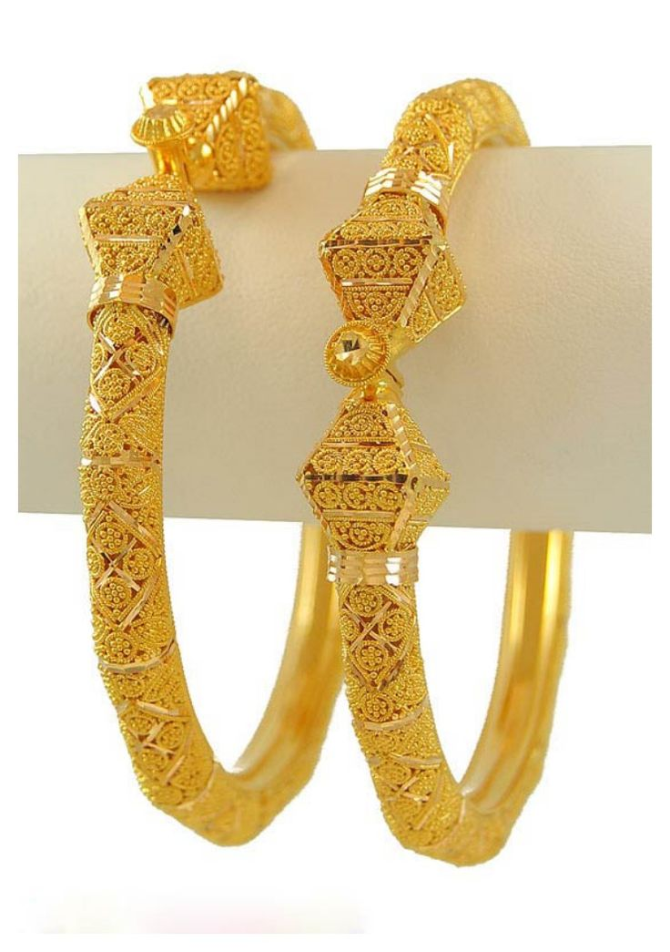 New 22k Gold Intricate Bangles In 2019 Gold Bangles