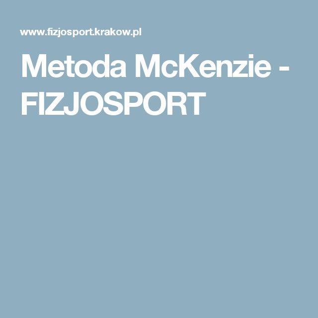 Metoda McKenzie - FIZJOSPORT