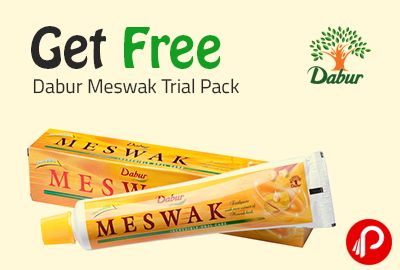 Dabur Meswak is #offering #free trial pack. Fill out your details and get your #toothpaste.