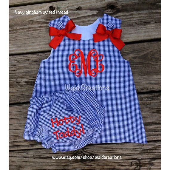 Ole Miss Hotty Toddy inspired Gingham A Line by waidcreations