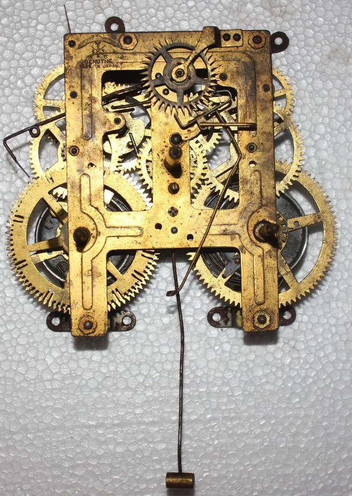 Antique Clock Movement For Parts Signed