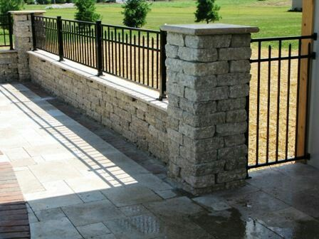 76 Best Concrete Fence Images On Pinterest Front Fence