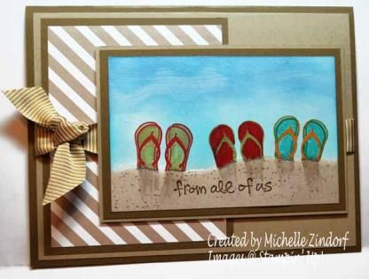 from all of us beachy sandals card by Michelle Zindorf