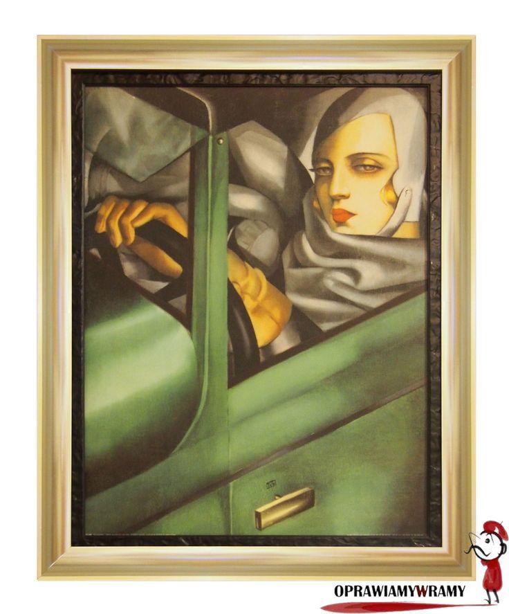 Autoportret Tamara Łempicka #tamaralempicka #lempicka #obraz #rama #artdeco #oprawiamywramy
