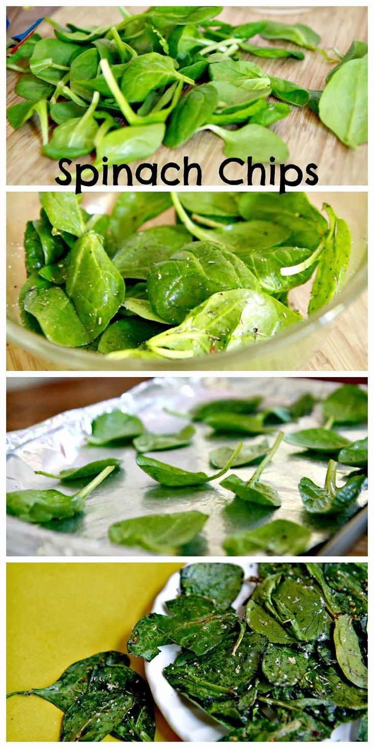 fashionsandwich: Snack Time: Italian Herb Baked Spinach Chips