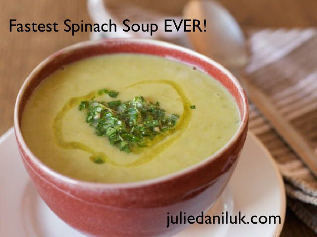 Fastest Spinach Soup EVER!