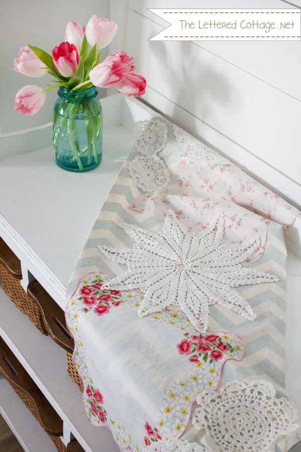 17 best images about doilies doilies doilies on for Diy valentine table runner