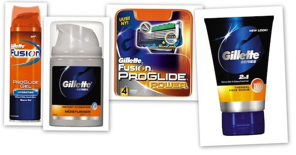 Gillette tuotteet