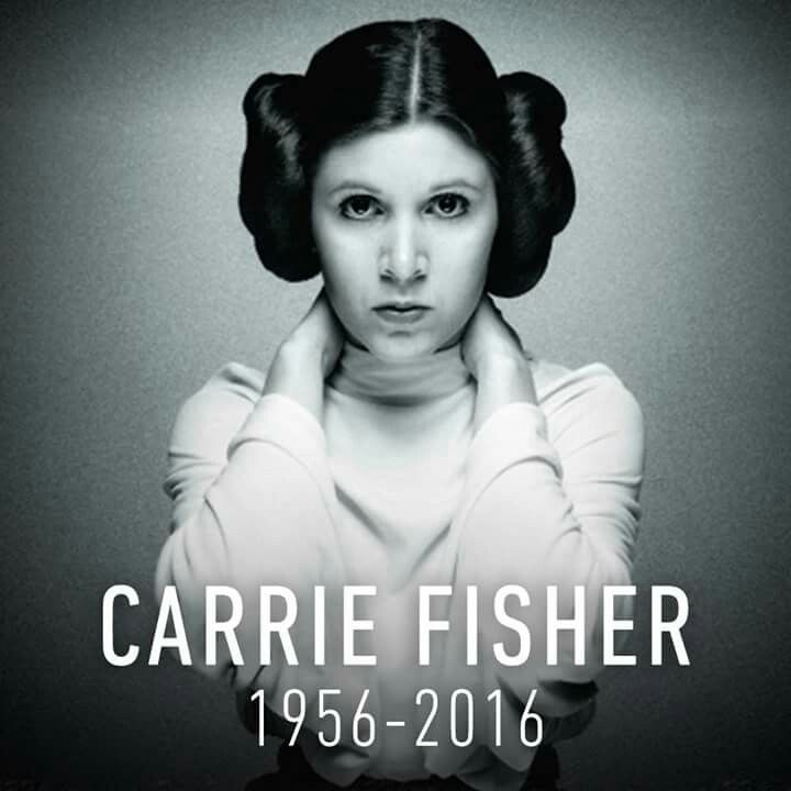 Rest In Peace, Carrie Fisher ♥︎