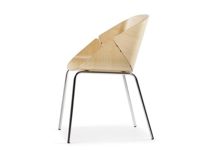 Cadeira ergonómica de madeira BABÁ - Plank