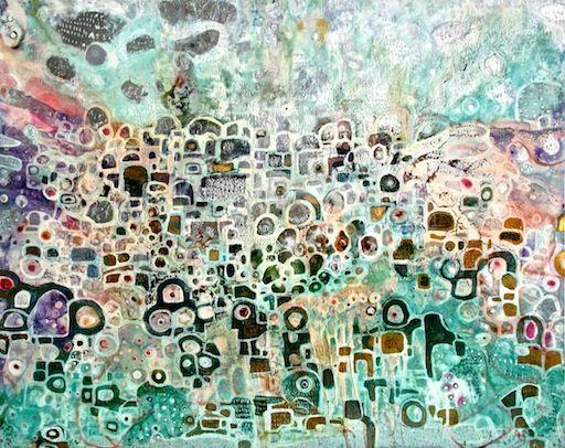 SOLD 'lollipop land' by Sarah Boulton www.tuskgallery.com.au