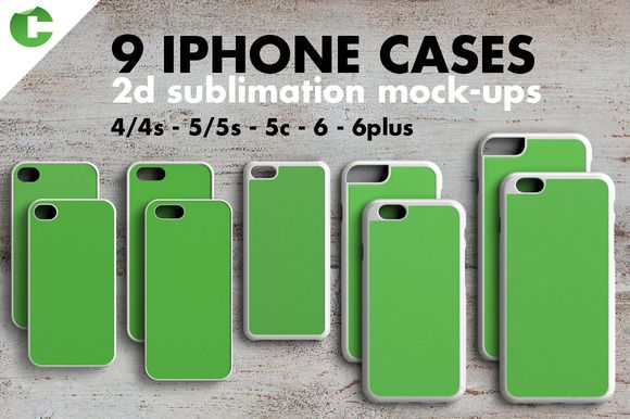 IPHONE CASE MOCK-UP 2d print - Product Mockups - 1