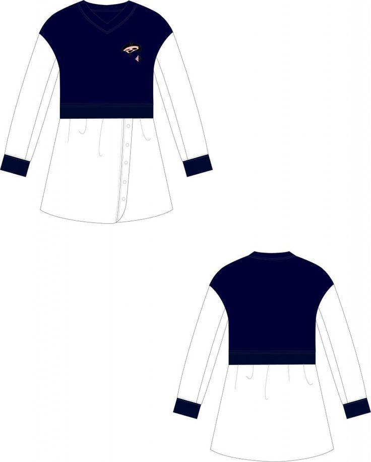 드롭 해골 맨투맨 셔츠