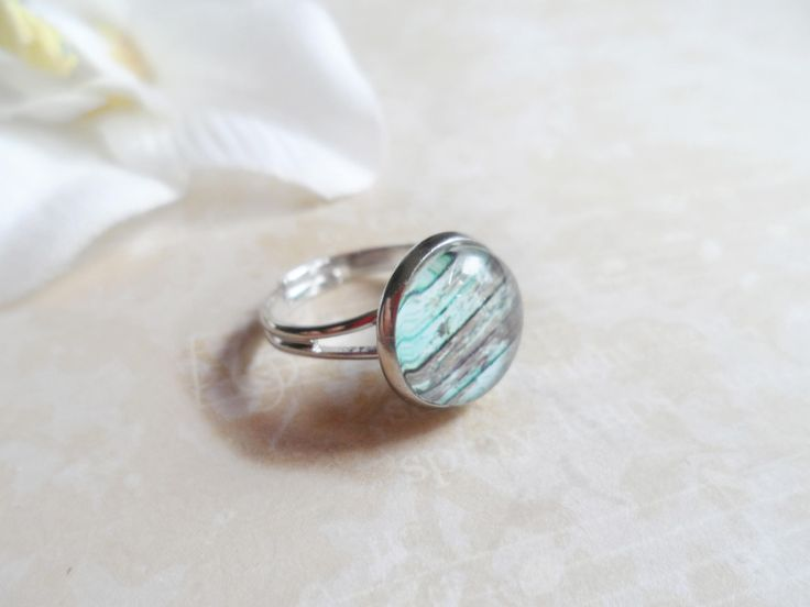 FREE SHIPPING! Scandinavian platinum tone ring with a stressed vintage wood pendant, Selma Dreams Nordic accessories, Scandi jewelry by SelmaDreams on Etsy