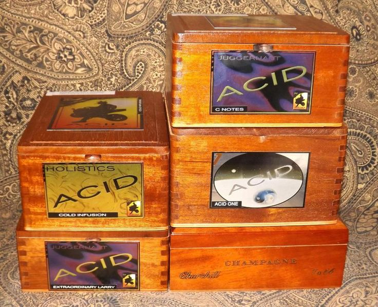 Acid Perdomo Wooden Cigar Boxes Purses Crafts Purses Jewelry Boxes