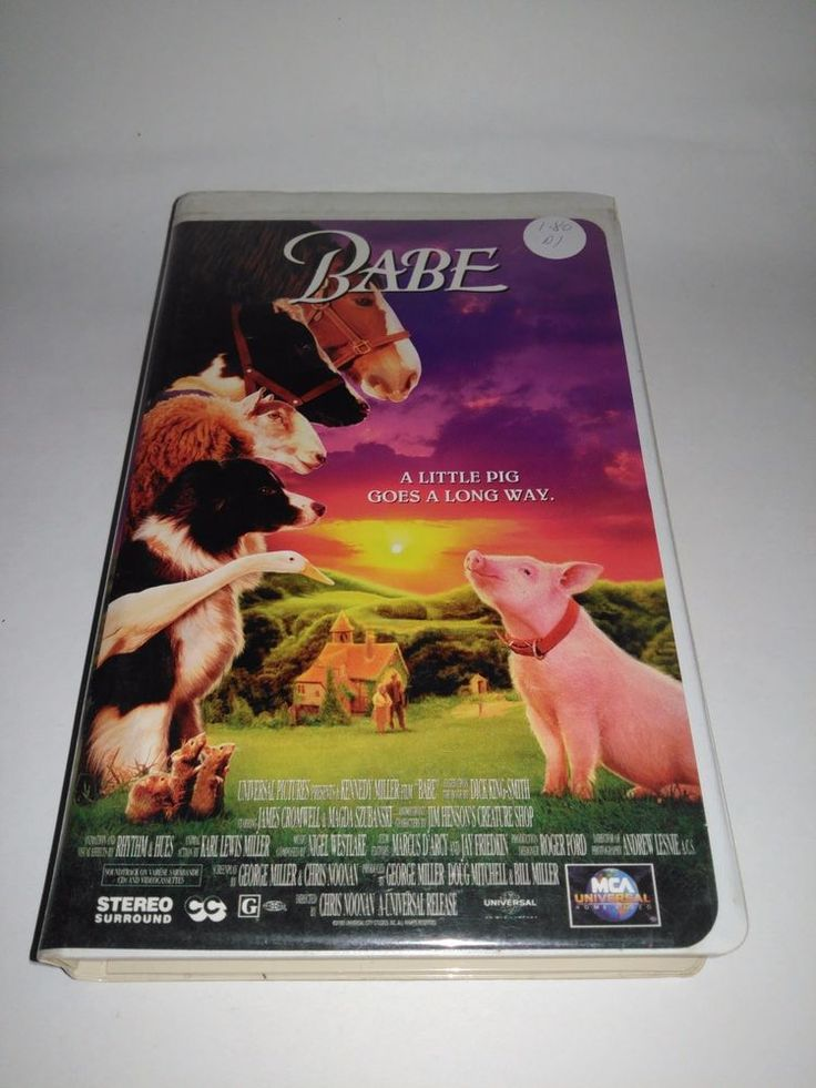 Babe 1995 Universal Clamshell VHS Talking Pig Movie VCR Tape