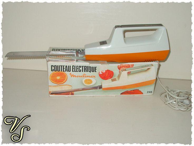 Vintage Küchengeräte - Elektrisches Moulinex Messer original 70er - ein Designerstück von Vintageschippie bei DaWanda