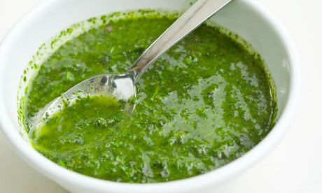 """Italian """"green sauce"""", (olive oil, parsley, capers and garlic). Perfect to serve with Italian boiled meats, it is  also appropriate with everything from grilled seafood to baked tomatoes.  (Click on the photo for the detailed recipe)"""