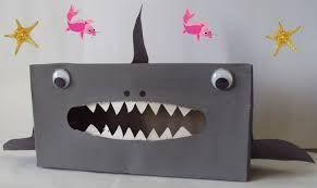 Thema piraten: haai knutselen
