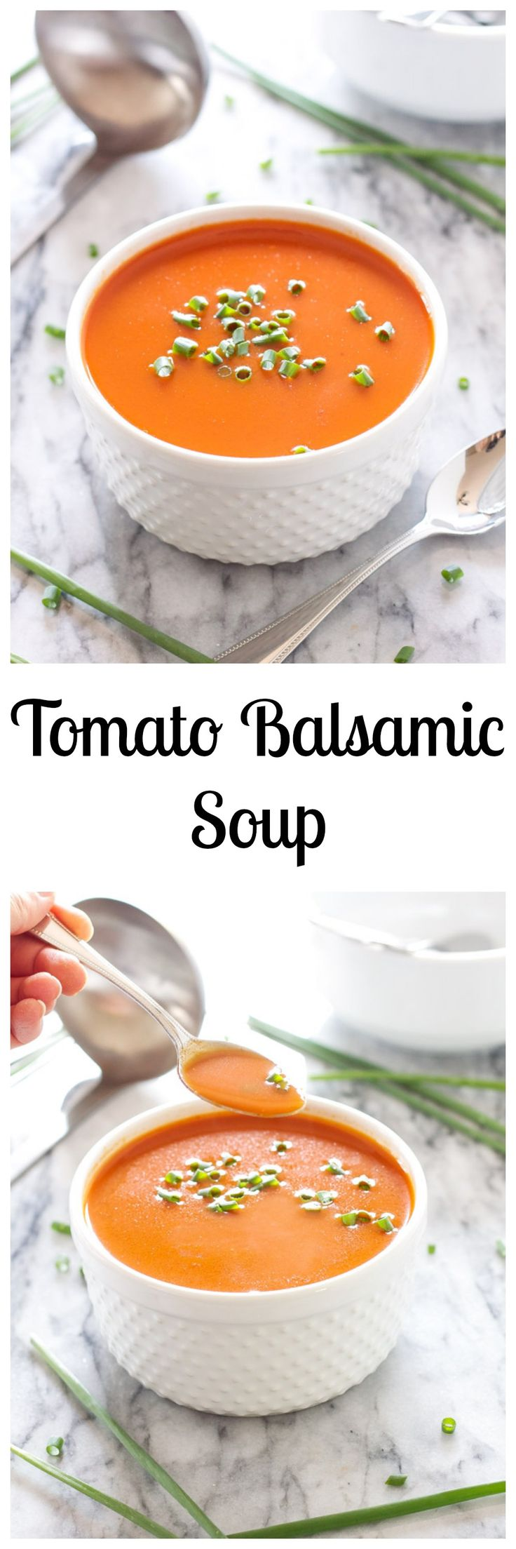 Tomato Balsamic Soup | Recipe Runner | Silky smooth tomato soup with the tart sweetness of balsamic vinegar!