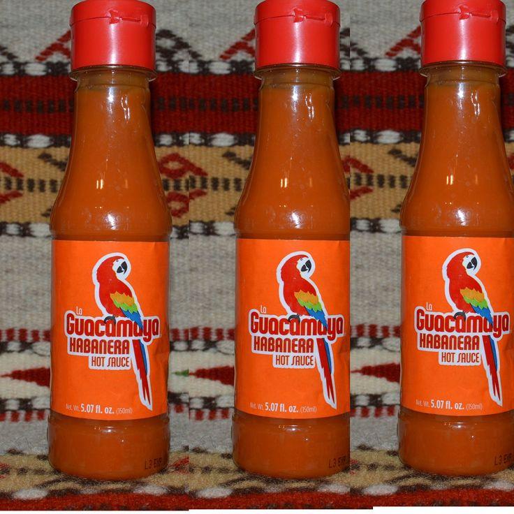 (Three) 5.07 Oz. La Guacamaya EXTRA HOT Authentic Habanera Mexican Hot Sauce