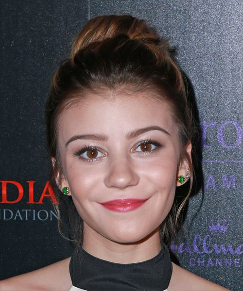 G Hannelius Casual Updo Hairstyle.
