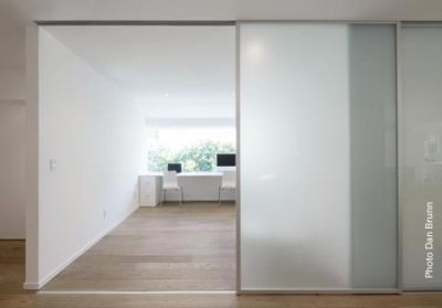 Take down a wall and add a room divider. Lightweight, quiet and 100% customizable!