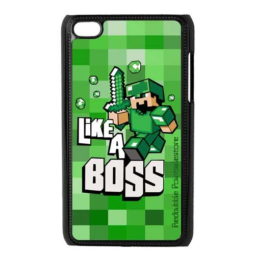 Minecraft Like A Boss apple ipod 4 4g Touch case 16.89