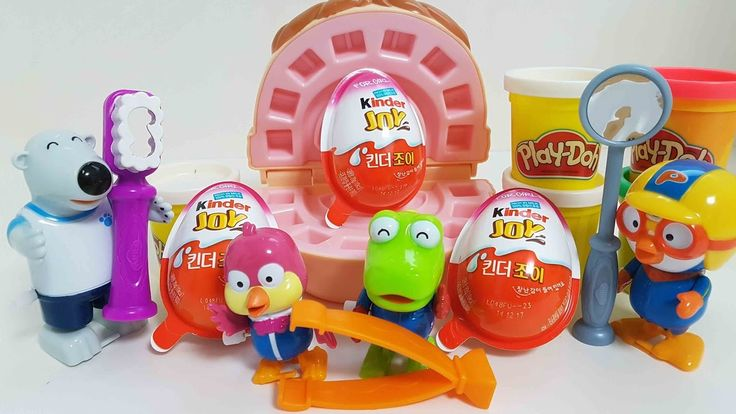Play Doh Dentist Doctor and pororo kinderjoy & 플레이 도우 치과의사 뽀로로 킨더조이