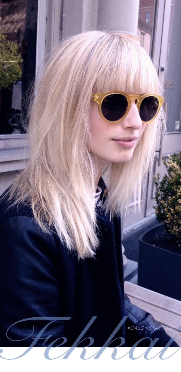 Hairstyles With Blunt Fringe 109 Best Images About Platinum Blonde Blunt Bangs On Pinterest