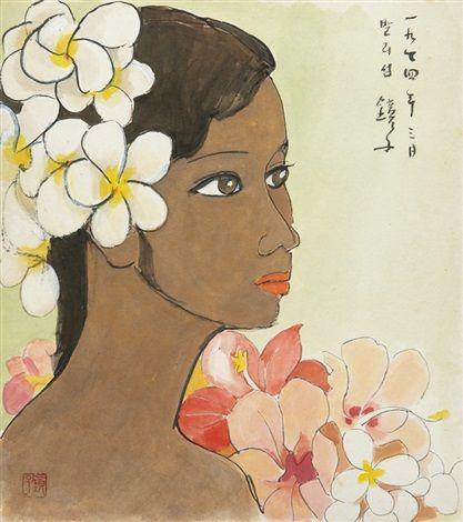 (Korea) Bali Woman,1974 by Chun Kyung-ja (1924-2015). Korea.