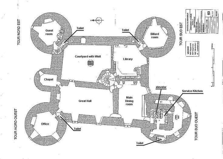 Ch Teau De Montbrun Plan Du Premier Tage Castles