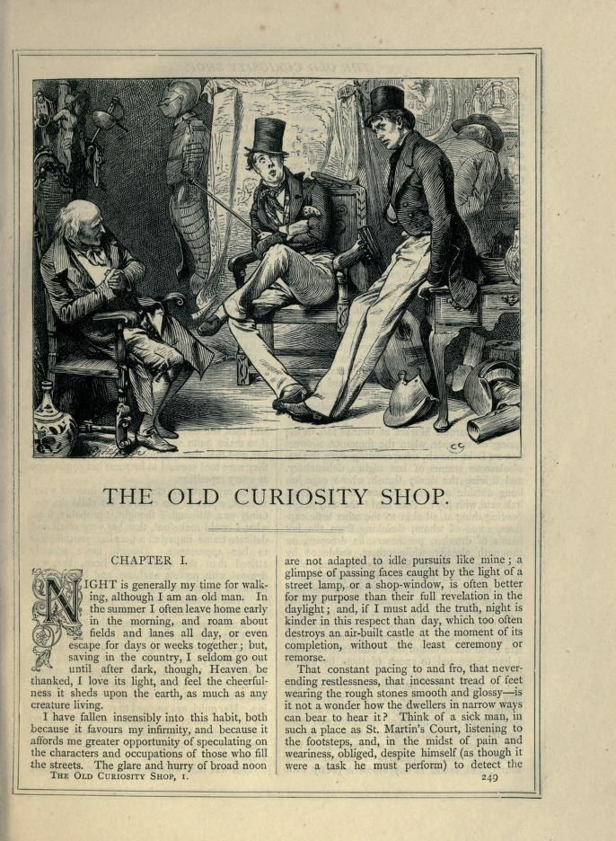 The Old Curiosity Shop by Charles Dickens (London and Shropshire).
