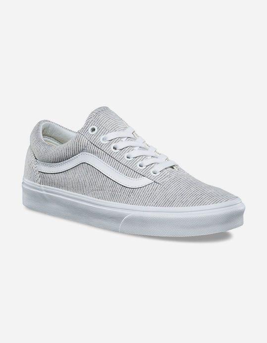 VANS Jersey Old Skool Grey & True White Womens Shoes - GRWHT ...