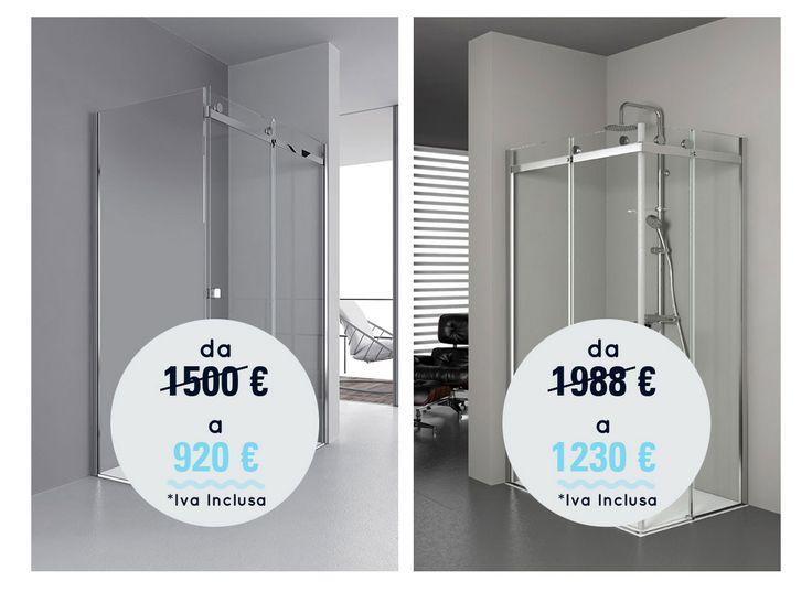 Ancora 2 giorni per approfittare della promozione #waterpassion! Sconto imperdibile sulle combinazioni box doccia della linea Aqualight.   Scopri la #promo: http://bit.ly/1FKmvtY  #wellness #bathroom