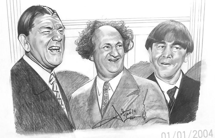 Three stooges how to draw three stooges page 2 for The three stooges coloring pages