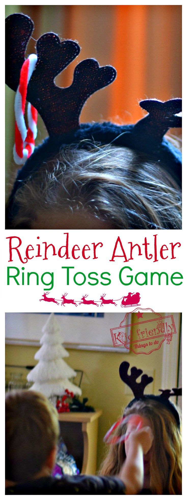 Ring the Reindeer Antlers – Human Ring Toss Game for Christmas Fun with the Kids!