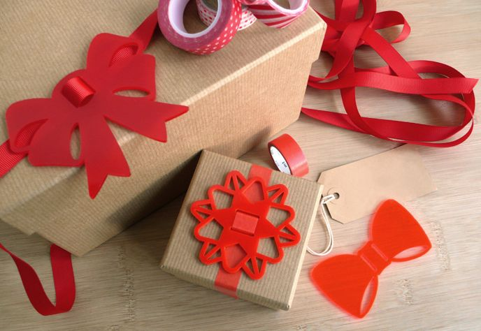 Bless Lazybows Laser Cut Acrylic / Perspex Bows for gift wrapping