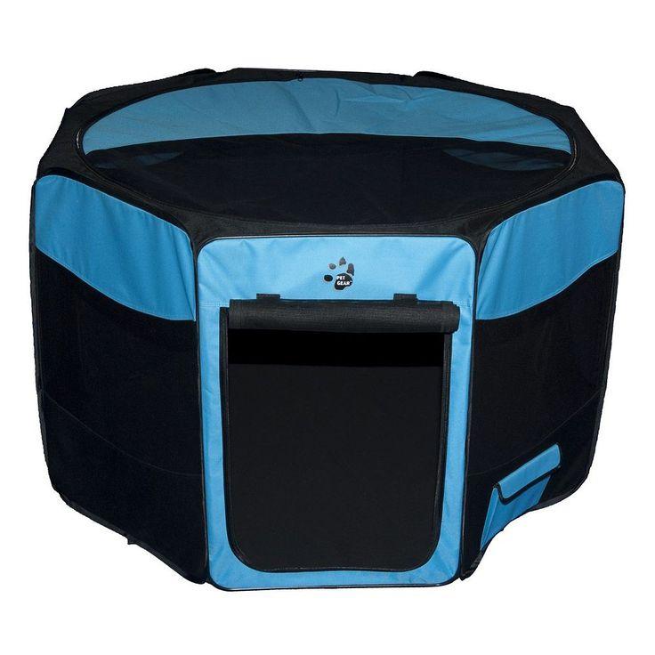 Pet Gear Octagon Pet Pen - Medium, Blue