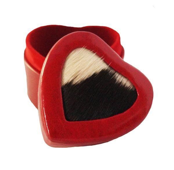 Heart Shaped Faux Fur Jewelry Box www.issara.com.au