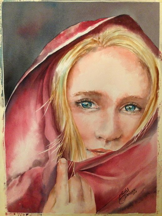 Great step by step blog for a portrait in watercolor