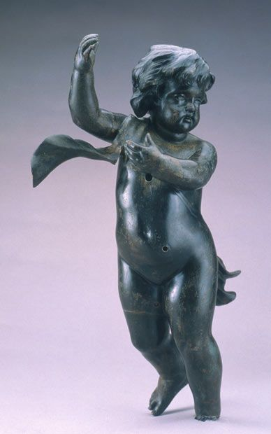 A Cherub that once adorned the grand staircase of the RMS Titanic