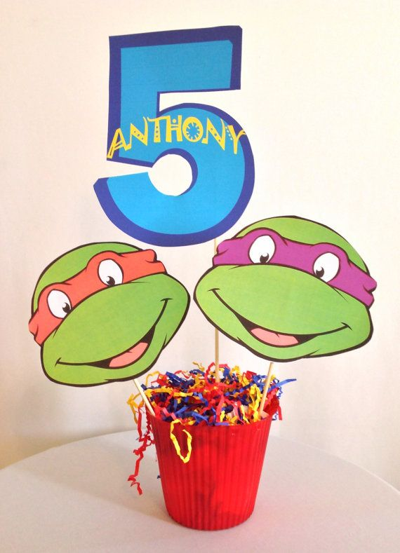 53 best images about birthday party ideas tmnt on for Tmnt decorations