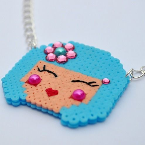 Cute little necklace from Daisy Mooo / hama perler beads